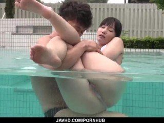 Yui Kasugano welcomes big cock in her wet pussy - More at..