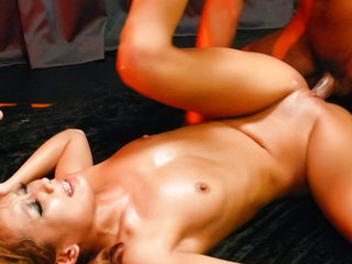 Japenese slut with gorgeous shaved pussy Kyoko fucked by..